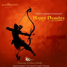 #Good shall always reign, #Truth shall always prevail!  Wishing all a very #HappyDusshera. Let the #Evils vanish as we spell victory of virtue over sin & determination over excuses.  Keep inspired. #Vijayadashami #Celebration #Festival #India #HLAgro