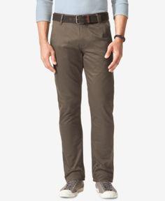 Dockers Men's Big & Tall Alpha Slim-Tapered Fit Stretch Twill Pants - Brown 46x32