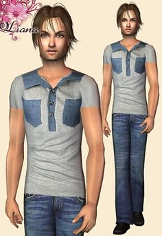 Liana Sims 2 - Preview - Men's clothing - Casual -