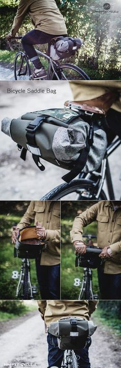 Bicycle Saddle Bag | by Happy Bicycle Store . Ideal for #randonneurs and Bike Touring