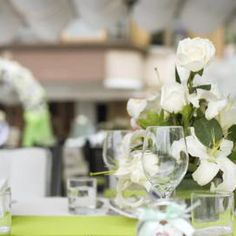 Decorated event table.