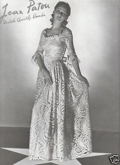 "Former advertising ""Mode Femme - PATOU JEAN-1939"""