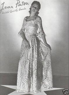 "Former advertising ""Mode Femme - PATOU JEAN-1939"""