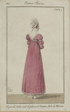 Costume Parisien, 1812,     From the Bibliothèque des Arts Décoratifs via SceneInThePast flickr.   plate 1269