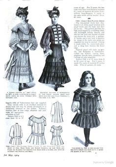girls' dresses May 1904 - The Delineator - Google Books