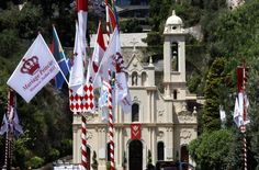 flag royal wedding monaco
