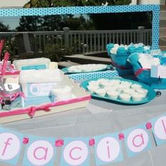 """Spa""rty Time- Fun idea for a little girl's party but also for us big girls for a bridal shower, baby shower, mom's day out, birthday, etc."