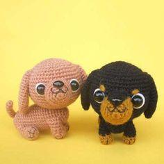 Dachshund puppy amigurumi pattern - FREE