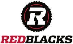 Ottawa RedBlacks Primary Logo on Chris Creamer's Sports Logos Page - SportsLogos. A virtual museum of sports logos, uniforms and historical items. Football Gear, College Football, Sports Team Logos, Sports Teams, Primary 2014, Ottawa Redblacks, English Logo, Canadian Football League, Grey Cup