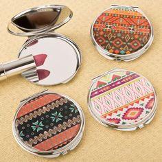 Delightful Aztec Design Compact Mirror #aztec #compactmirror