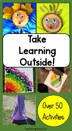 Now is the perfect time to get outside!  Get kids outside for some outdoor education activities.  Over 50, hands-on learning activities you can do!  Perfect for school or home.   #outdooreducation #outdoor educationactivities #outdooreducationactivitiesforkids #outdoreducationkindergarten #outdoorlearning Outside Activities For Kids, First Day Of School Activities, Preschool Activities, Children Activities, Kindergarten Learning, Kids Learning, Teaching, Outdoor Education, Outdoor Learning