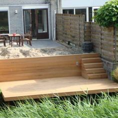 Houten vlonders - HeijboerTuinhout Diy Garage, House Plans, Pergola, New Homes, Home And Garden, Exterior, House Styles, World, Places