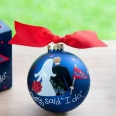 Know an Ole Miss couple who is celebrating their first Christmas? This ornament is a great addition for a tree!