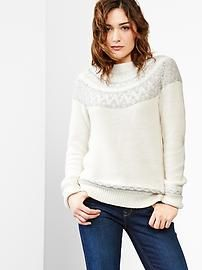 Gap -  Reverse fair isle mockneck sweater