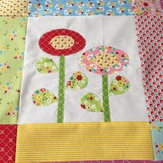 Bloom Sew Along Block 3 using fabric from Nadra Ridgeway's Bloom & Bliss collection! #iloverileyblake