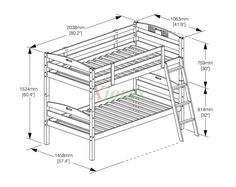 bed bunk size - Google Search