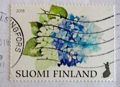 Onnenkukkia 4-postimerkki 2018_AA You Are The World, Flower Stamp, Postage Stamps, Finland, Postcards, Floral, Flowers, Stamps, Flower