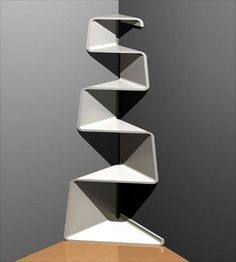 Nice interior design ideas {Part 2} (22)or stack boxes just the idea of getting smaller the higher you go