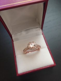 14K Rose Gold Morganite and Diamond Ring Style L4818