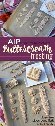 "AIP ""Buttercream"" Frosting!!!! Amazingly delicious, dairy-free, coconut-free, whips up and pipes beautifully, compliant with autoimmune protocol diet. SO happy to have this recipe!!! :) #aipfrosting #bestaipfrosting #aipbuttercream #dairyfreebuttercream"