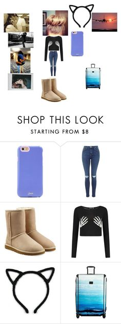 """Going to see him <3"" by angelloves5sos on Polyvore featuring Sonix, UGG Australia, Boohoo and Tumi"