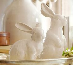 My mom had ceramic bunnies like this when I was growing up. I've been searching for them, must get these!