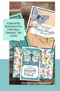 If you have the Stampin' Up! Butterfly Brilliance you want some creative card ideas to make right? I've got you covered complete with a card making video tutorial you can follow along with. Learn more at www.klompenstampers.com #stampinupbutterflybrilliance #butterflybrilliancestampinup #stampinup #stampinupcards #stampinupcardideas #cardmakingtutorials #jackiebolhuis #klompenstampers Fun Fold Cards, Folded Cards, Card Making Tutorials, Butterfly Cards, Stamping Up, Creative Cards, Stampin Up Cards, Cardmaking, Card Ideas