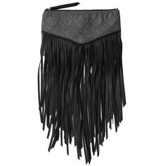 Abercrombie & Fitch Fringe Wristlet ($30) ❤ liked on Polyvore featuring bags, handbags, clutches, grey pattern, zip zip wristlet, wristlet clutches, wristlet purse, gray purse and fringe purse