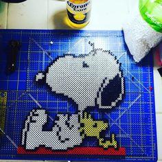 Snoopy perler beads by munecadraculaura