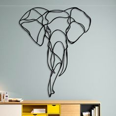 Elephant Head Wooden Wall Art