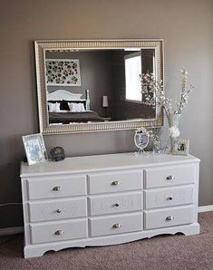 Master Bedroom Repainted and Decorated - dresser - Home Decor Furniture, Furniture Makeover, Geek Furniture, Pallet Furniture, Antique Furniture, Furniture Ideas, Outdoor Furniture, Master Bedroom, Bedroom Decor