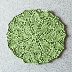 Lydia's Lily Pad Free Dishcloth Pattern by Joyce Fassbender