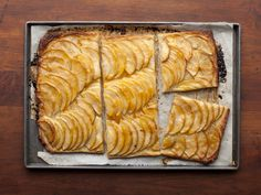 French Apple Tart Recipe : Ina Garten : Food Network *can use 1 sheet frozen puff pastry defrosted. Roll out to and proceed with apples. Tart Recipes, Apple Recipes, Dessert Recipes, Cooking Recipes, Pastry Recipes, Dinner Recipes, Cooking Pork, Cooking Time, Apple Ice