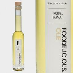 Truffelolie met echte witte truffel | Foodelicious.nl