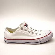 c8a1505fd07e New Converse Mens White Chuck Taylor All Star Low Canvas Shoes Left 7 Right