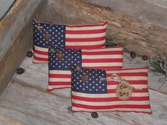 3  Primitive  Patriotic  Rustic  USA  July 4th Olde by ChooseMoose