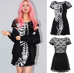 Wishbone Lace Dress by Iron Fist  ATTITUDECLOTHING.CO.UK | We ship worldwide…