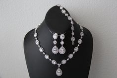 The Eve complete set wedding jewelry bridal jewelry by terihuang, $265.00