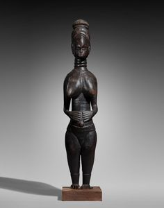 Bonhams Fine Art Auctioneers & Valuers: auctioneers of art, pictures, collectables and motor cars High Forehead, Black Mask, Sierra Leone, Auction, African, Liberia, Statue, Fine Art, Female