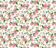 Blush Bouquet fabric by shelbyallison on Spoonflower - custom fabric