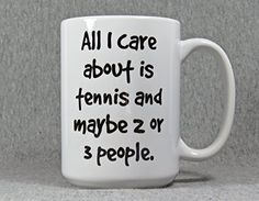 tennis player mug, large 15 oz. ceramic mug for a tennis player, coach or fan *** Check this awesome product by going to the link at the image.