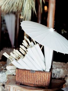 Parasols:  http://www.stylemepretty.com/destination-weddings/2015/10/09/romantic-beach-wedding-in-the-dominican-republic/ | Photography: Clary Photo - http://claryphoto.com/