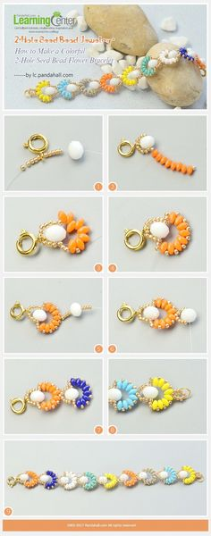 Brilliant >> Beaded Bracelet Patterns And Instructions ;-)