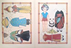 Paper Doll and Clothes: Representing Cambodia, Vietnam, China, Japan, Korea by Loraine Morris from the Doll World Magazine January / February 1987