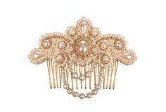 Lucrezia bridal comb hair jewelry vintage style by PetiteLumiereCo
