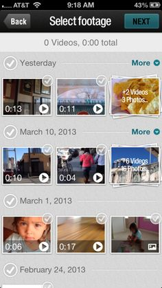 Magisto app lets you edit your smart phone videos with a couple of clicks. A must-have for every parent.
