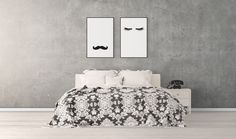 Mustache Eyeslashes - Mr & Mrs - Print Posters - Quote Prints, Bedroom Above Bed Art, Cute Prints, Print Pack, Minimalist Art