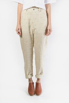 Escapade Pants, Cream Tufts