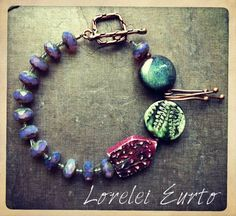 designed by Lorelei Eurto, polymer clay beads by Humblebeads