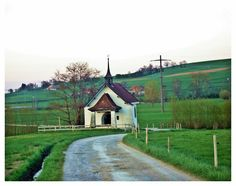 petite chapelle by ameliasantos on DeviantArt Champs, Chapelle, Switzerland, Cabin, House Styles, Beautiful, Home Decor, Decoration Home, Room Decor
